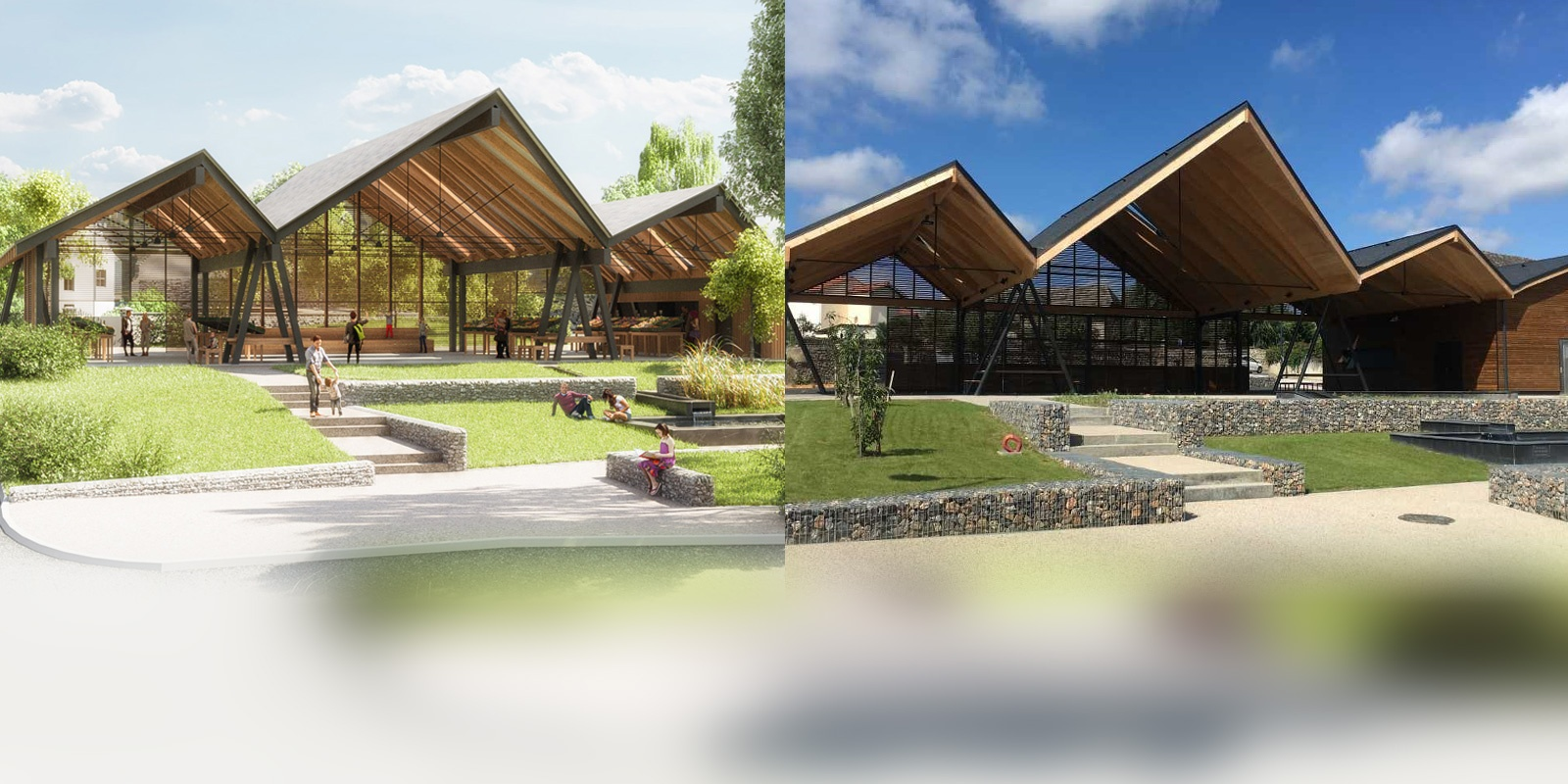 Juillan - Ville des Hautes-Pyrénées - Notre halle en cours de construction