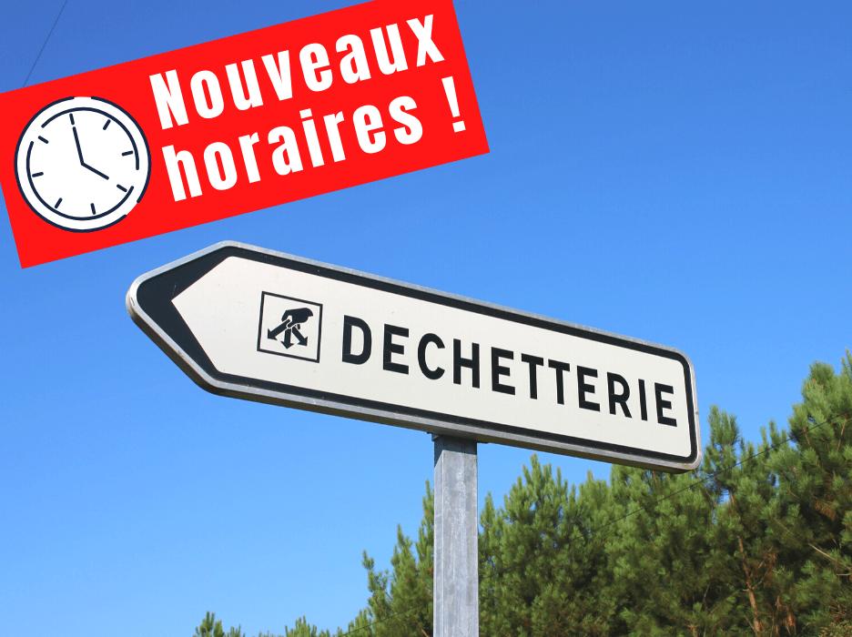 Juillan - Ville des Hautes-Pyrénées - Changement horaires déchetterie à partir du 1er août